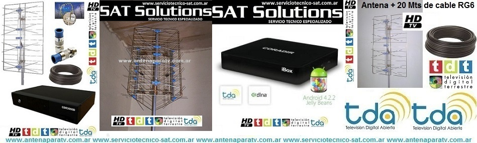 kit antenas tv, antenas para tv digital,, antenas para tv, decodificador digital, decodoficador tv digital, instalacion de tv digital, tdt, tda